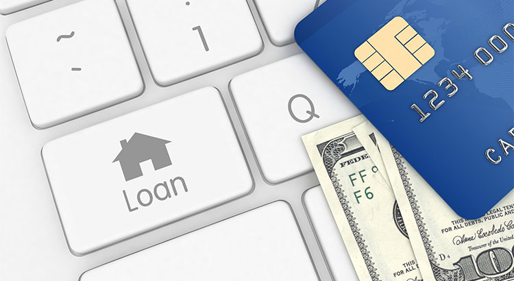 Money And A Credit Card Illustrate Credit Scores Needed For Home Loans.